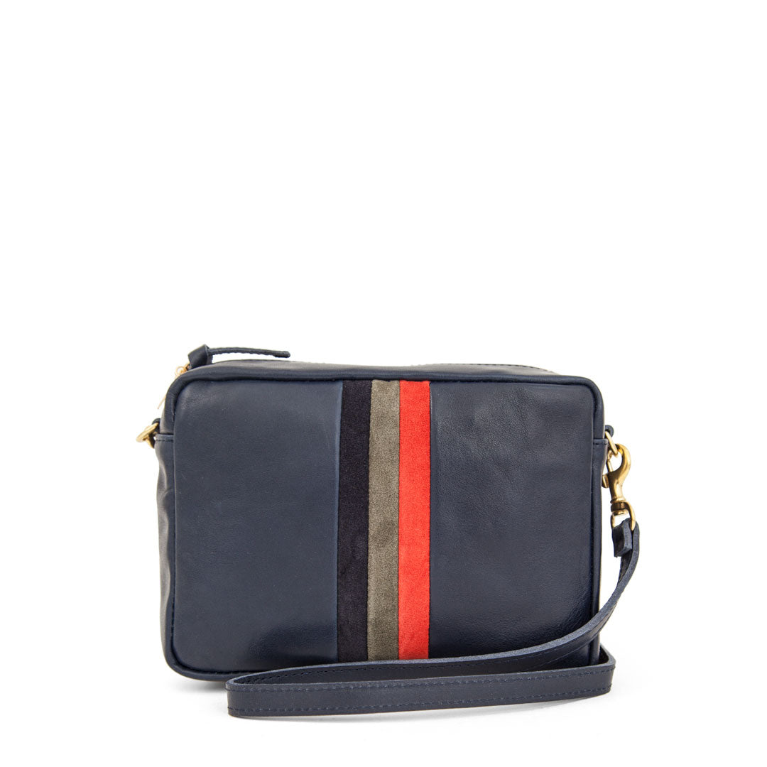 Navy Rustic with Desert Stripes Midi Sac