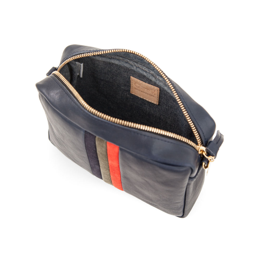 Navy Rustic with Desert Stripes Midi Sac - Interior