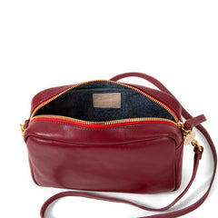 Oxblood Midi Sac - Interior