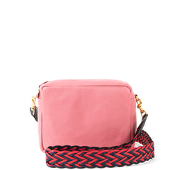 Petal Midi Sac with Red & Navy Braided Strap
