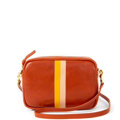 Sienna Rustic with Stripes Midi Sac - Front