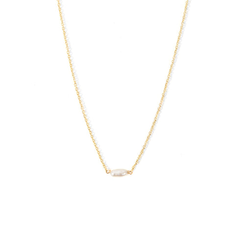 Minoux Pearl Bar Necklace