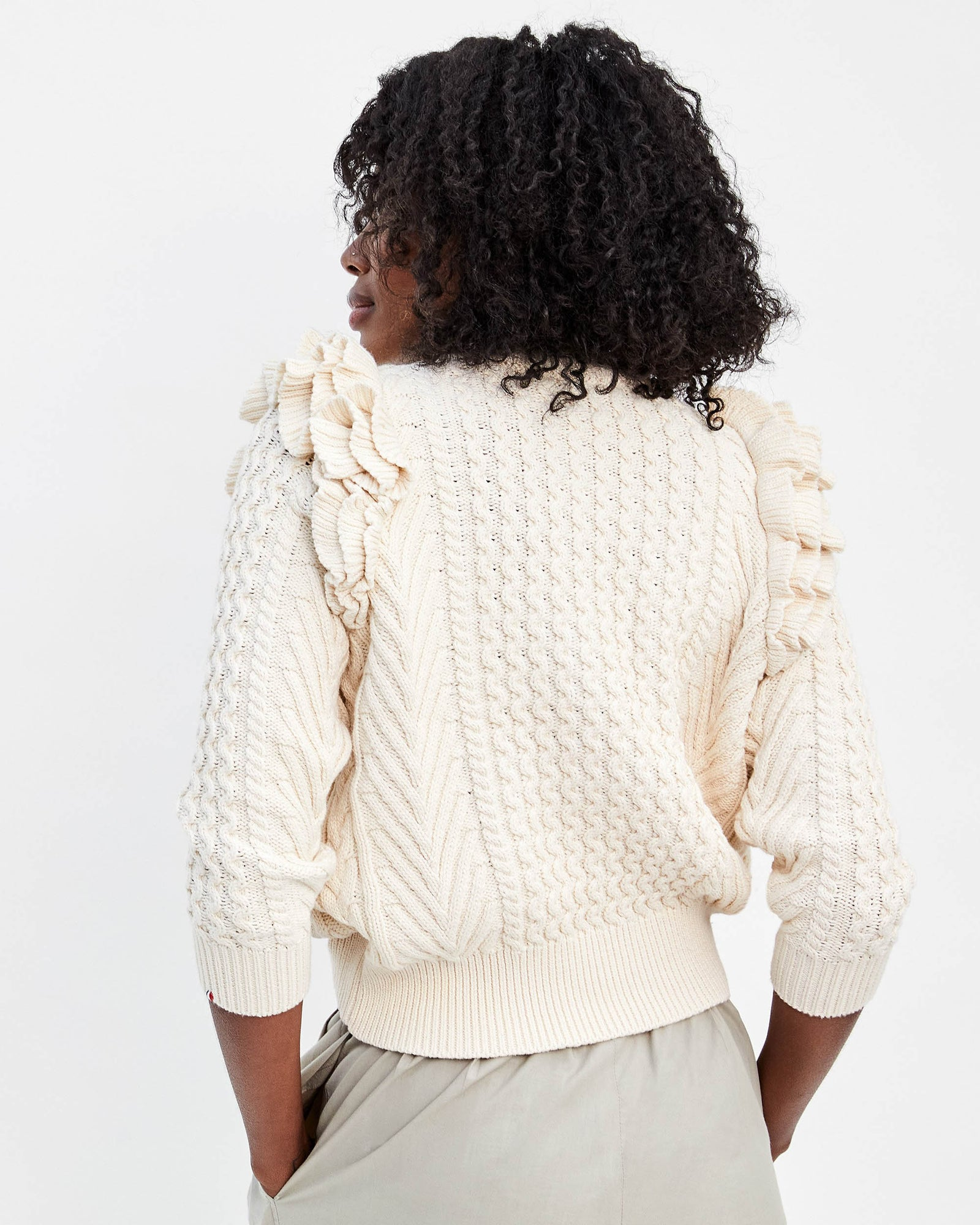 DEMYLEE Natural Nora Sweater on Mecca - Back
