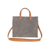 Dark-Grey-Suede-Cuoio-Handles-Petit-Simple-Tote