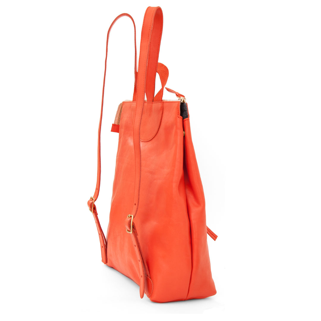 Blood Orange Rustic Remi Backpack - Back