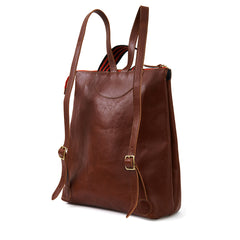 Mahogany Rustic Remi Backpack - Back