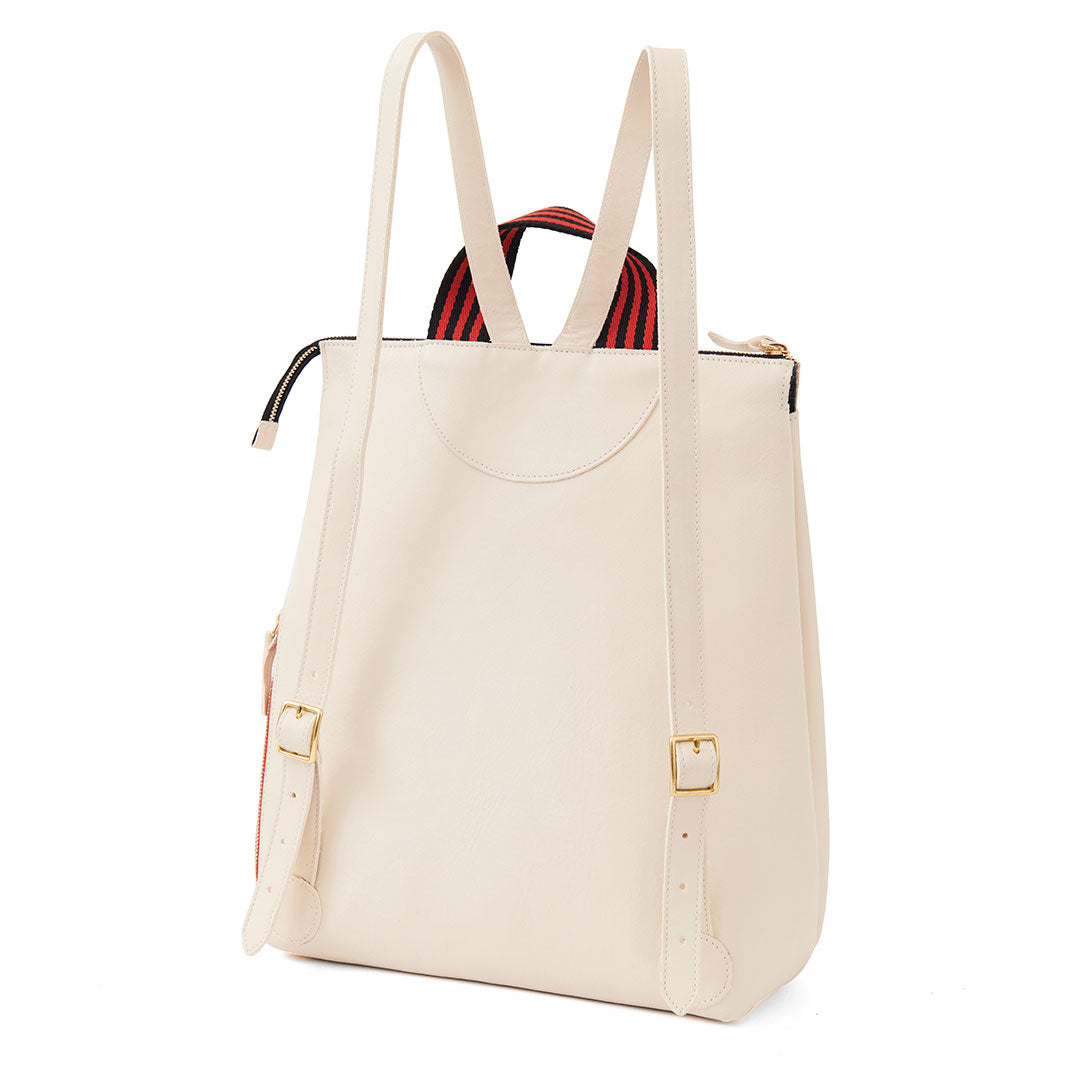 White Rustic Remi Backpack - Back