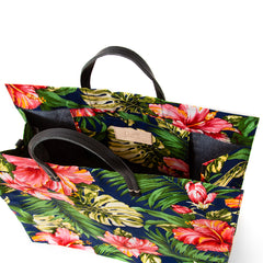 Maui Floral Simple Tote - Interior