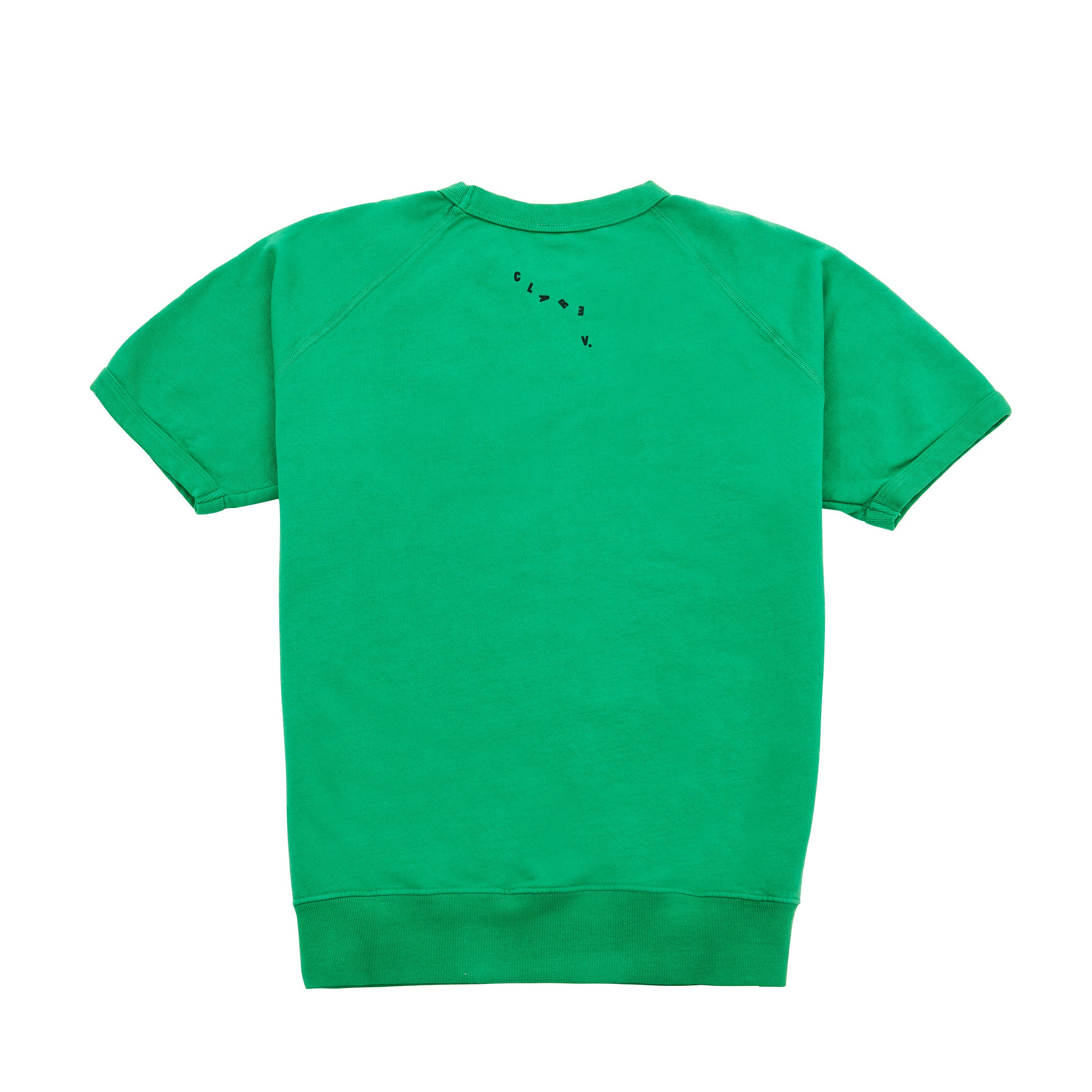Green Tout Va Bien Short Sleeve Sweatshirt - Back