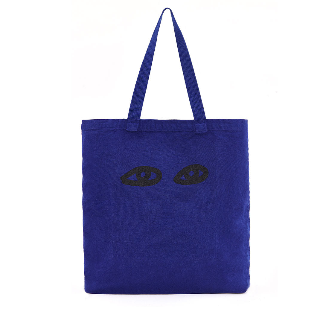 Cobalt with Eyes Saturday Tote