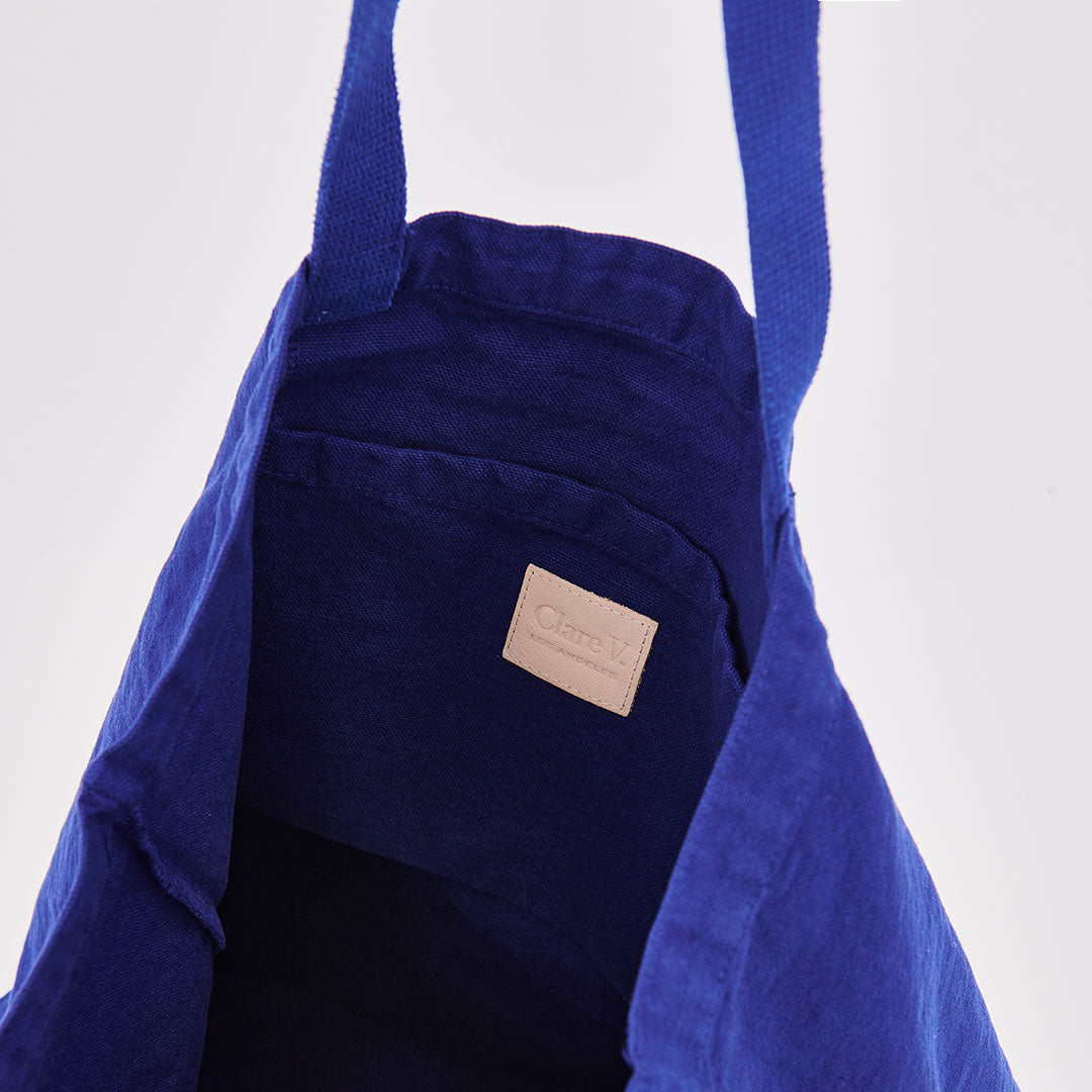 Cobalt with Eyes Saturday Tote - Interior