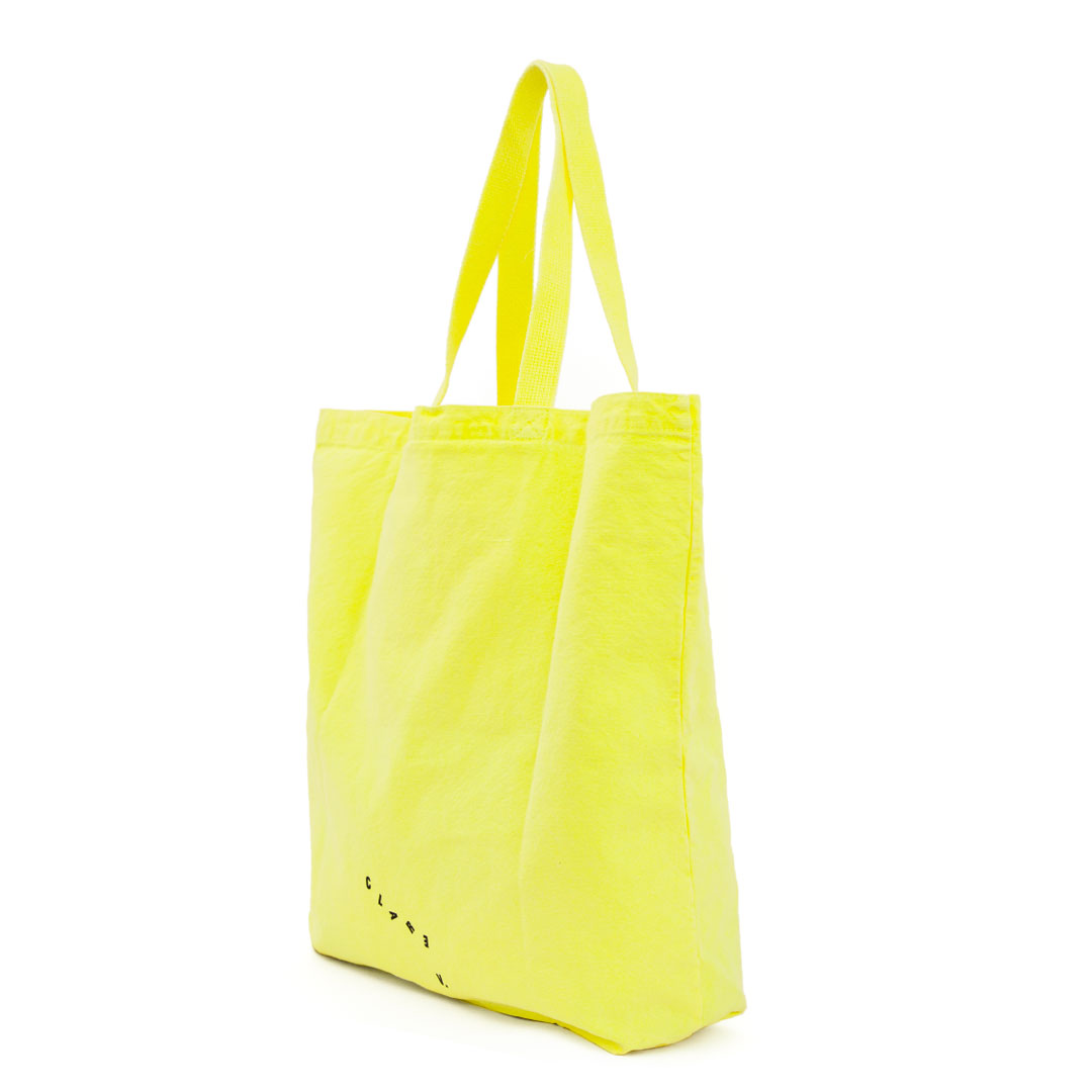 Neon Yellow Saturday Tote - Back
