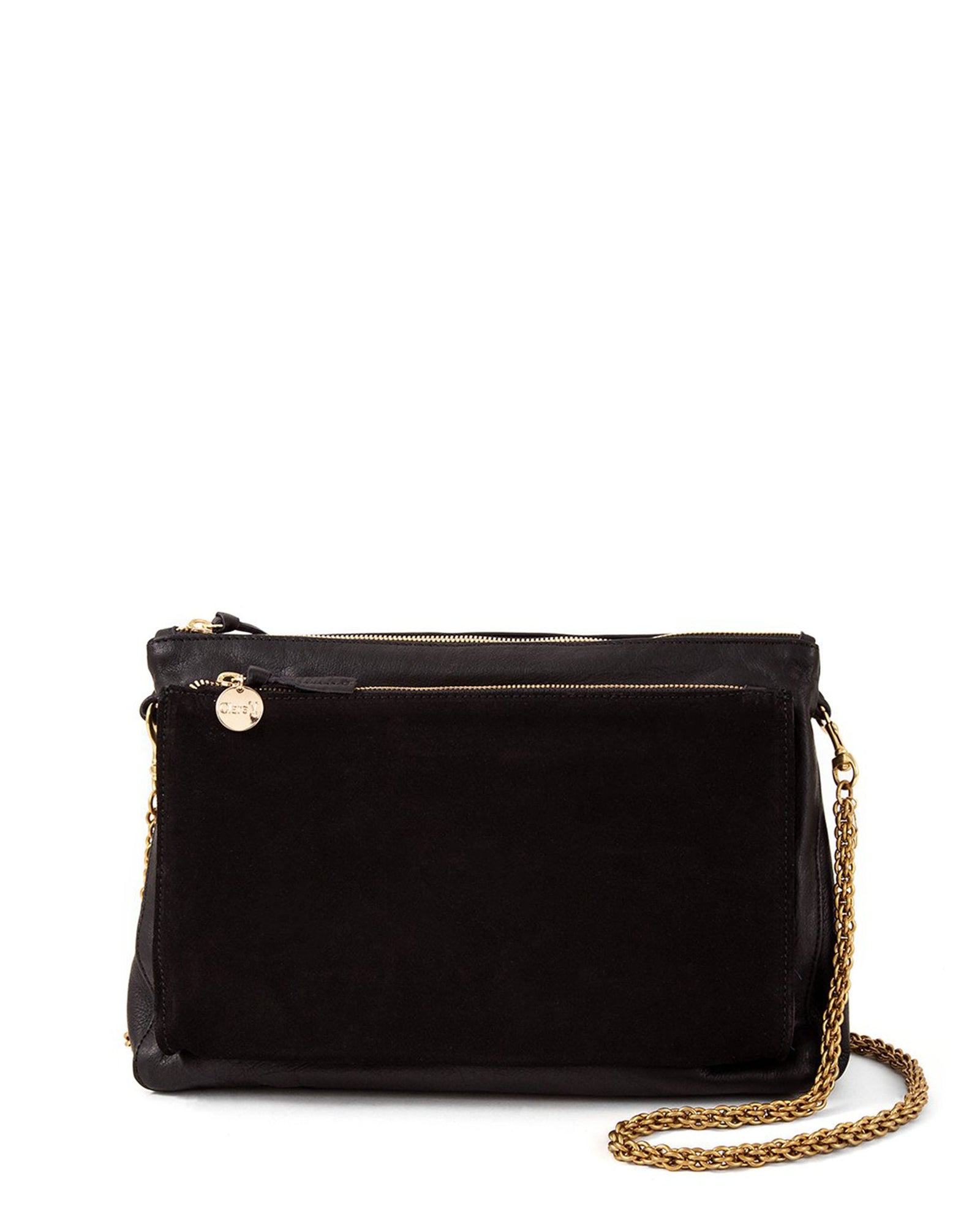 Thick Chain Shoulder Strap on Black Gosee Clutch