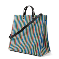 Garden Stripe Simple Tote - Back