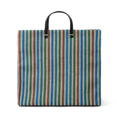 Garden Stripe Simple Tote - Front