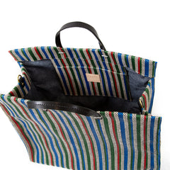 Garden Stripe Simple Tote - Interior