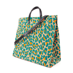 Neon Cat Suede Simple Tote - Back