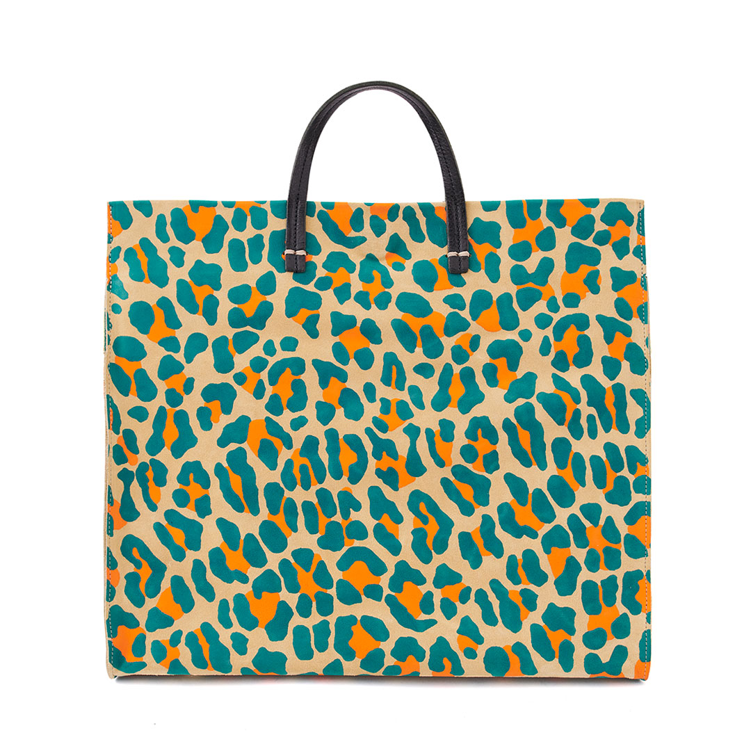 Neon Cat Suede Simple Tote - Front