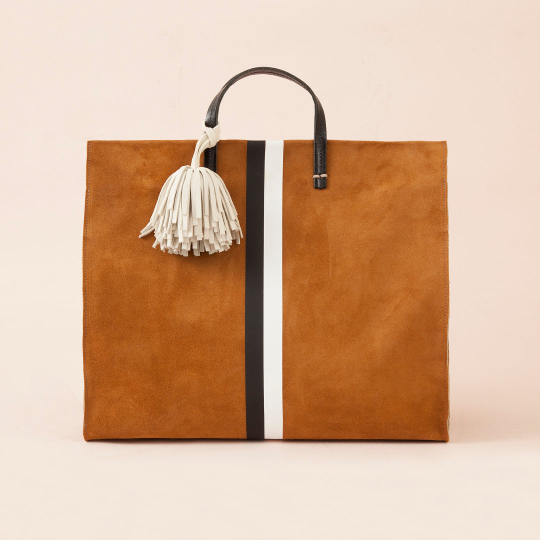Simple Tote w/Pom Pom Loop