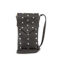 Black Italian Nappa with Studs Soft Camille