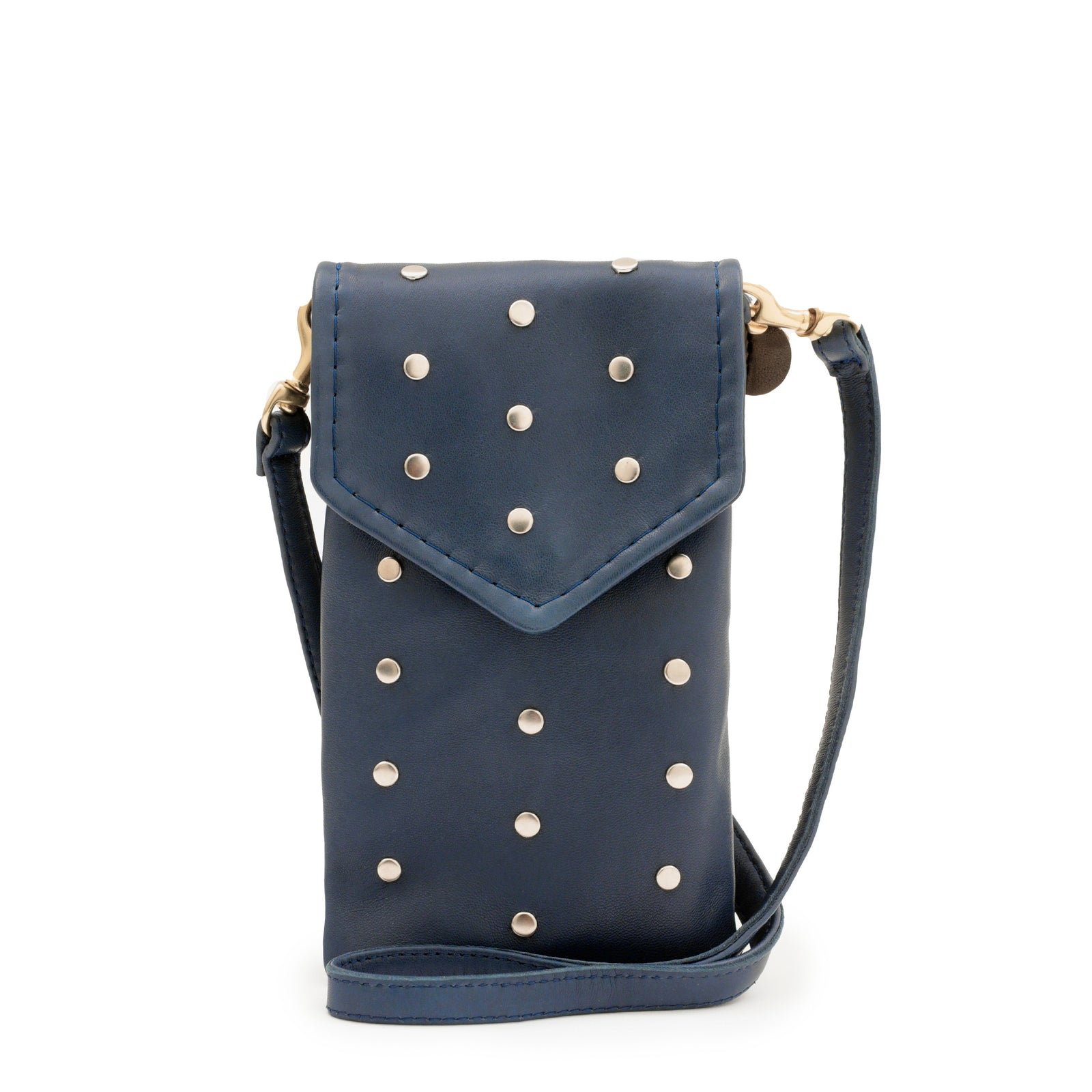 Denim Italian Nappa with Studs Soft Camille - Front