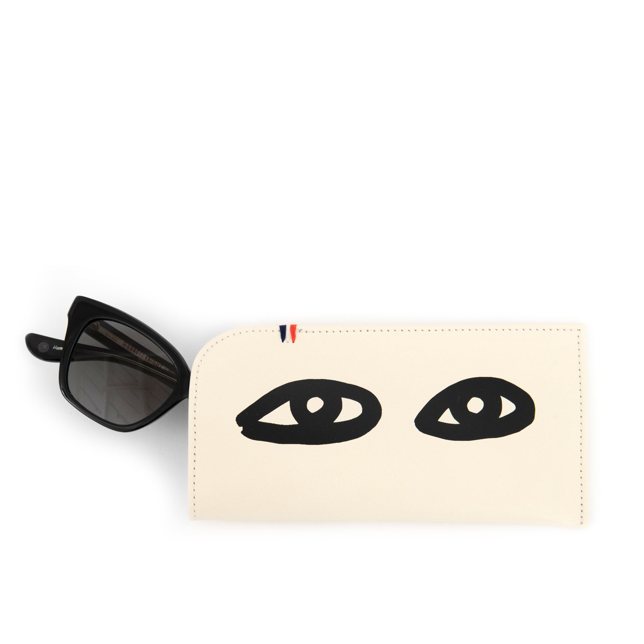Cream with Eyes Sunglasses Sleeve - Front