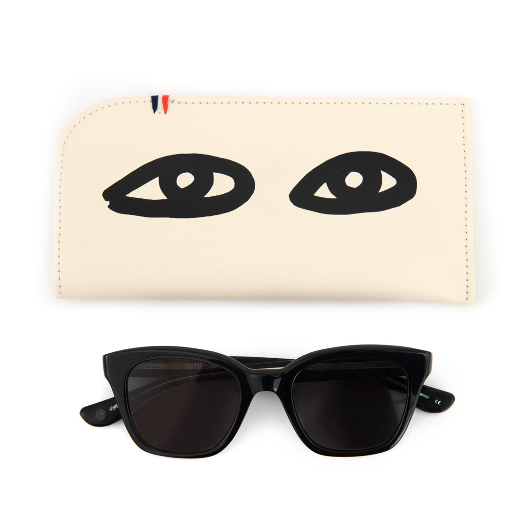Cream with Eyes Sunglasses Sleeve