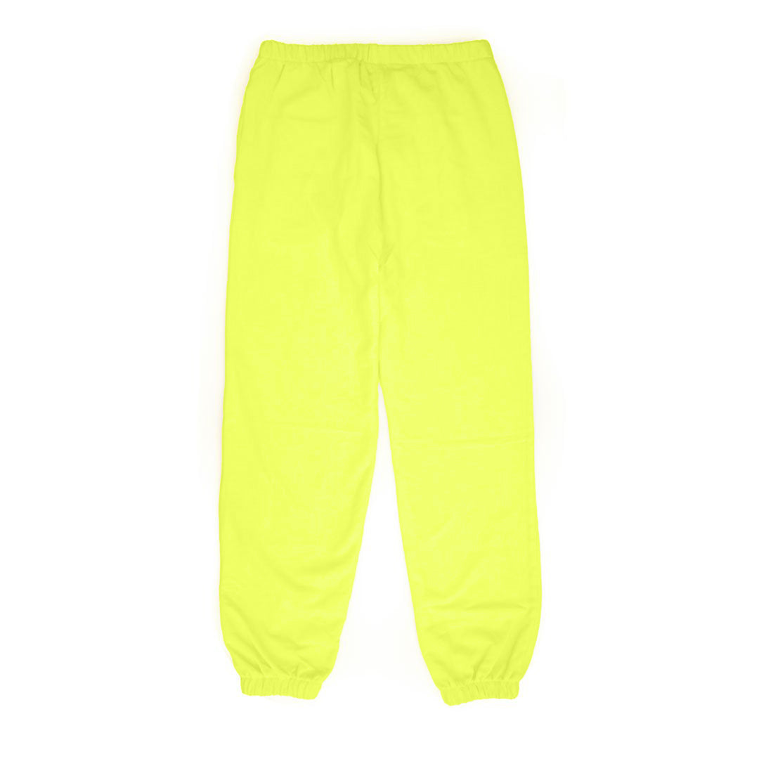Neon Yellow with Black Eyes Sweatpants - Back