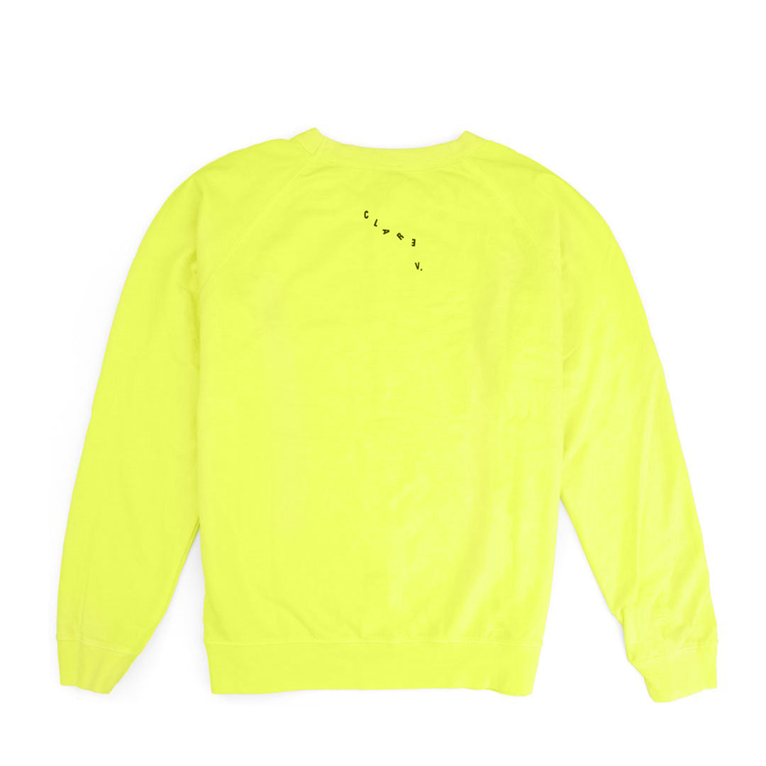 Neon Yellow with Black Eyes Sweatshirt - Back