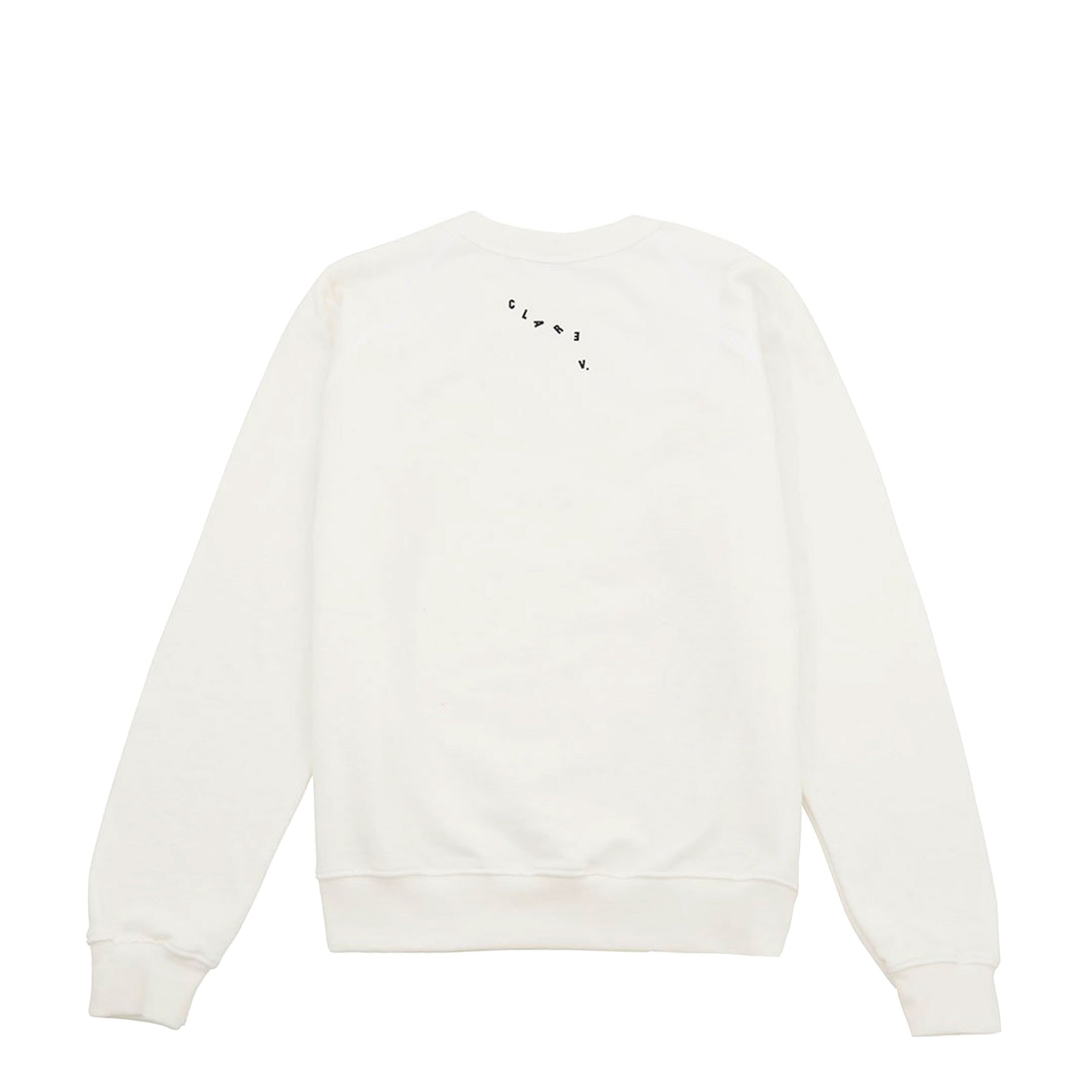 White with Black Eyes Sweatshirt - Back