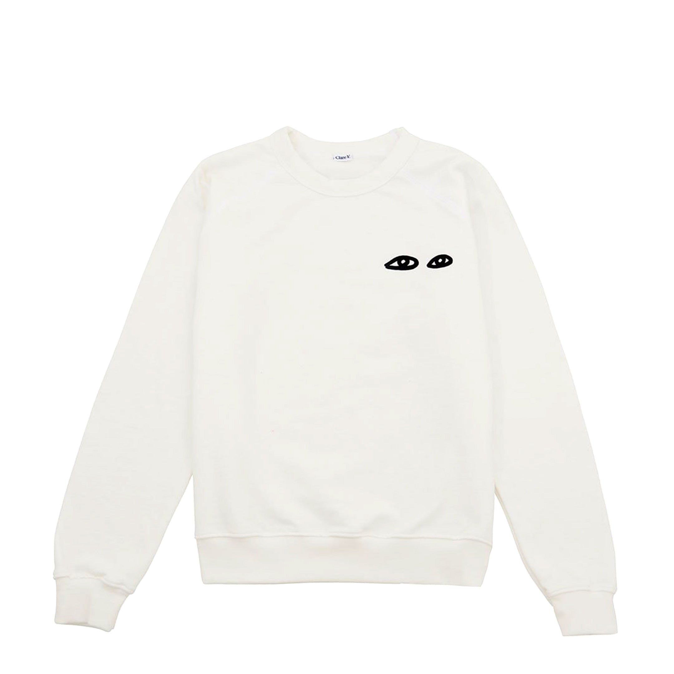 White with Black Eyes Sweatshirt - Front