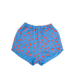 Sweatshorts in Blue with Poppy Jaguar - Front
