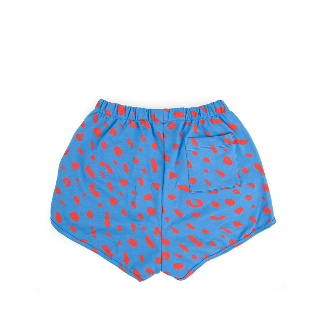 Sweatshorts in Blue with Poppy Jaguar - Back