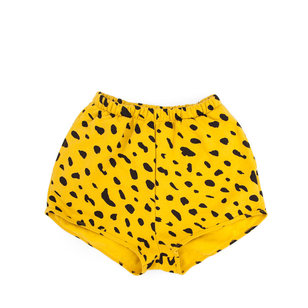Sweatshorts in Marigold with Black Jaguar - Front