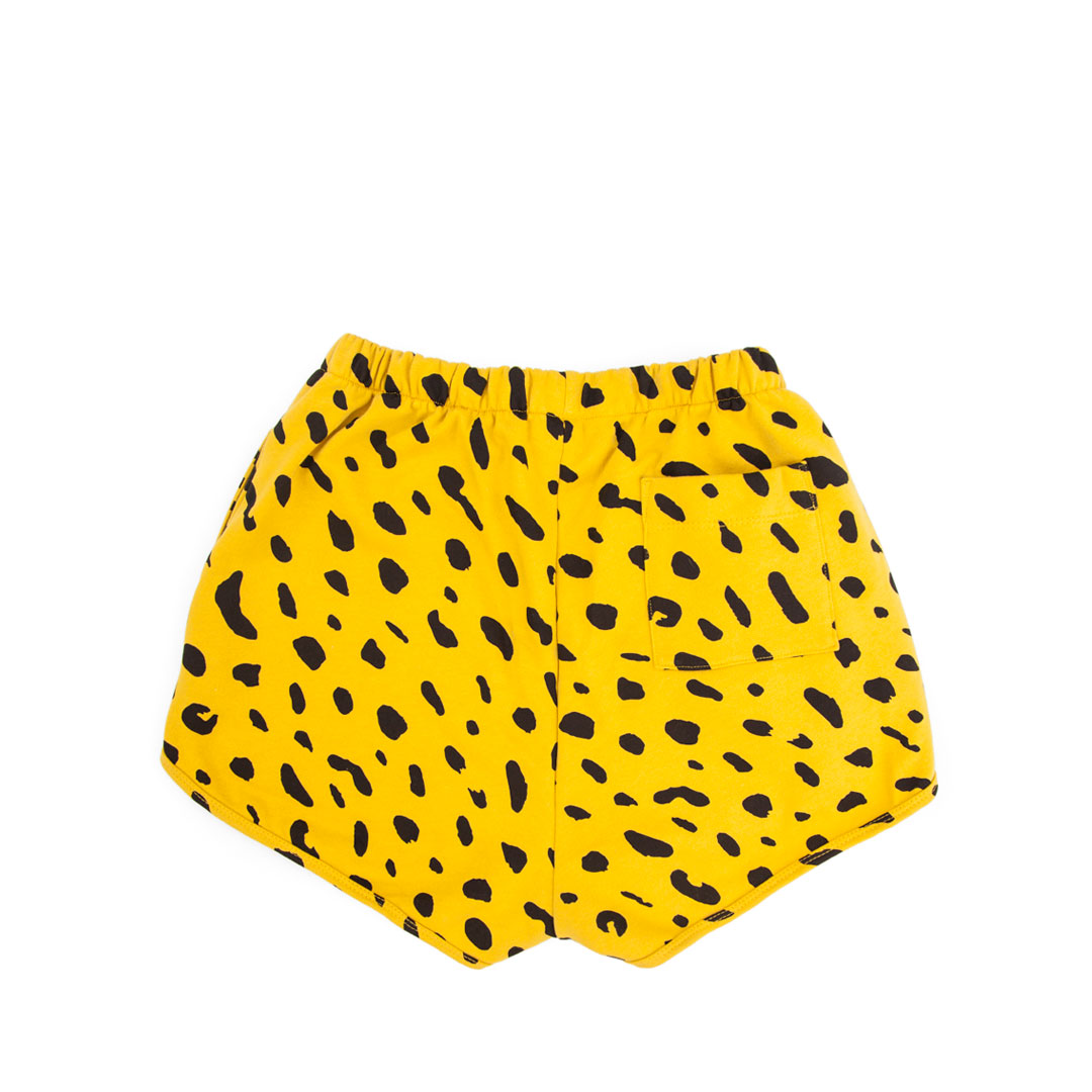 Sweatshorts in Marigold with Black Jaguar - Back