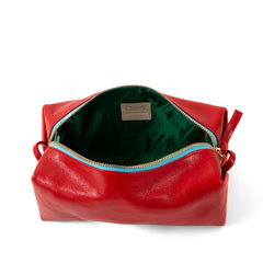 Cherry Red Toiletry Case - Interior