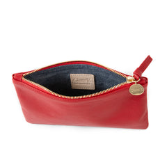 Cherry Red Wallet Clutch - Interior