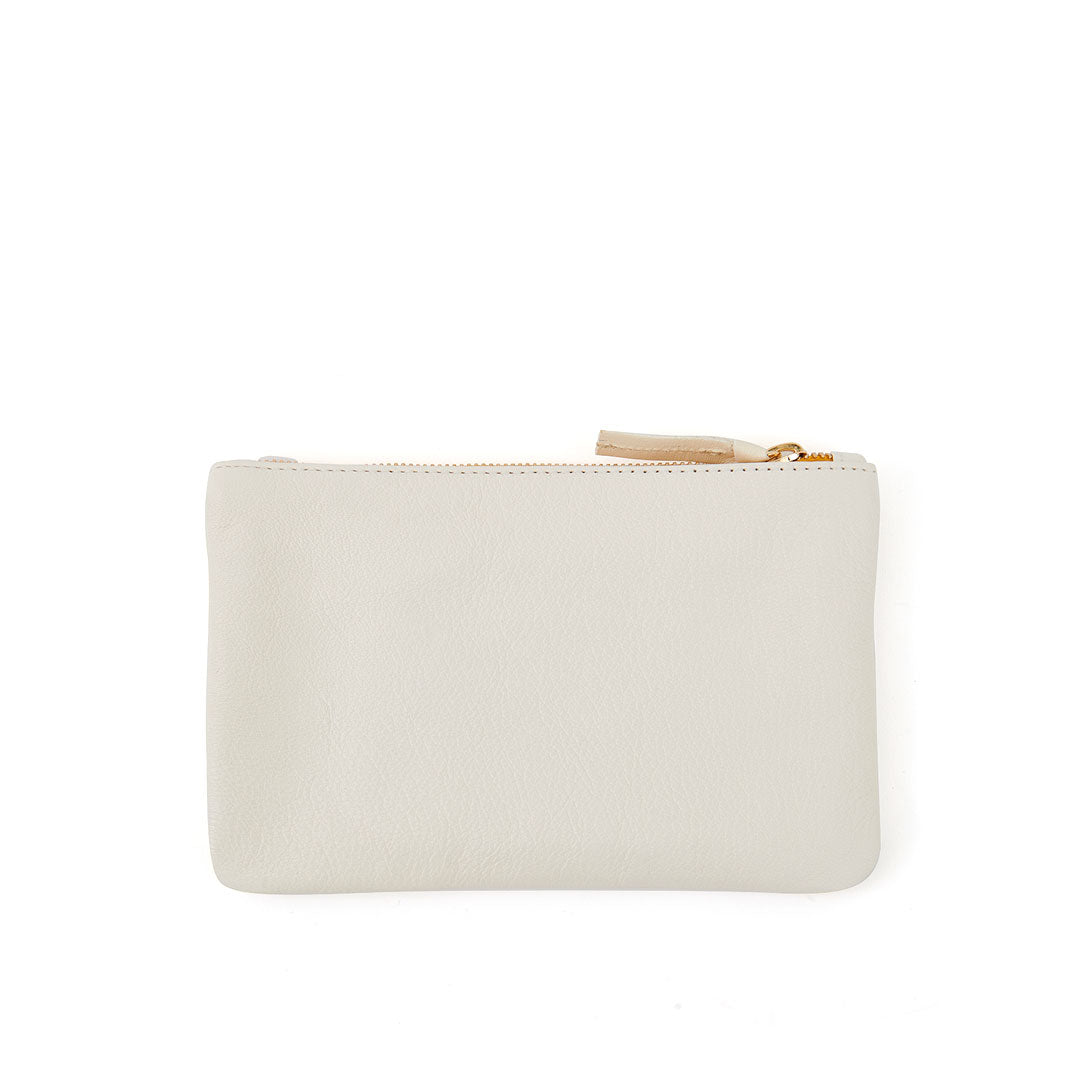 Cream with Black Bisous Wallet Clutch - Back