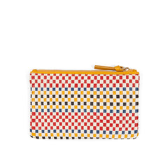Multi Plaid Woven Wallet Clutch - Back