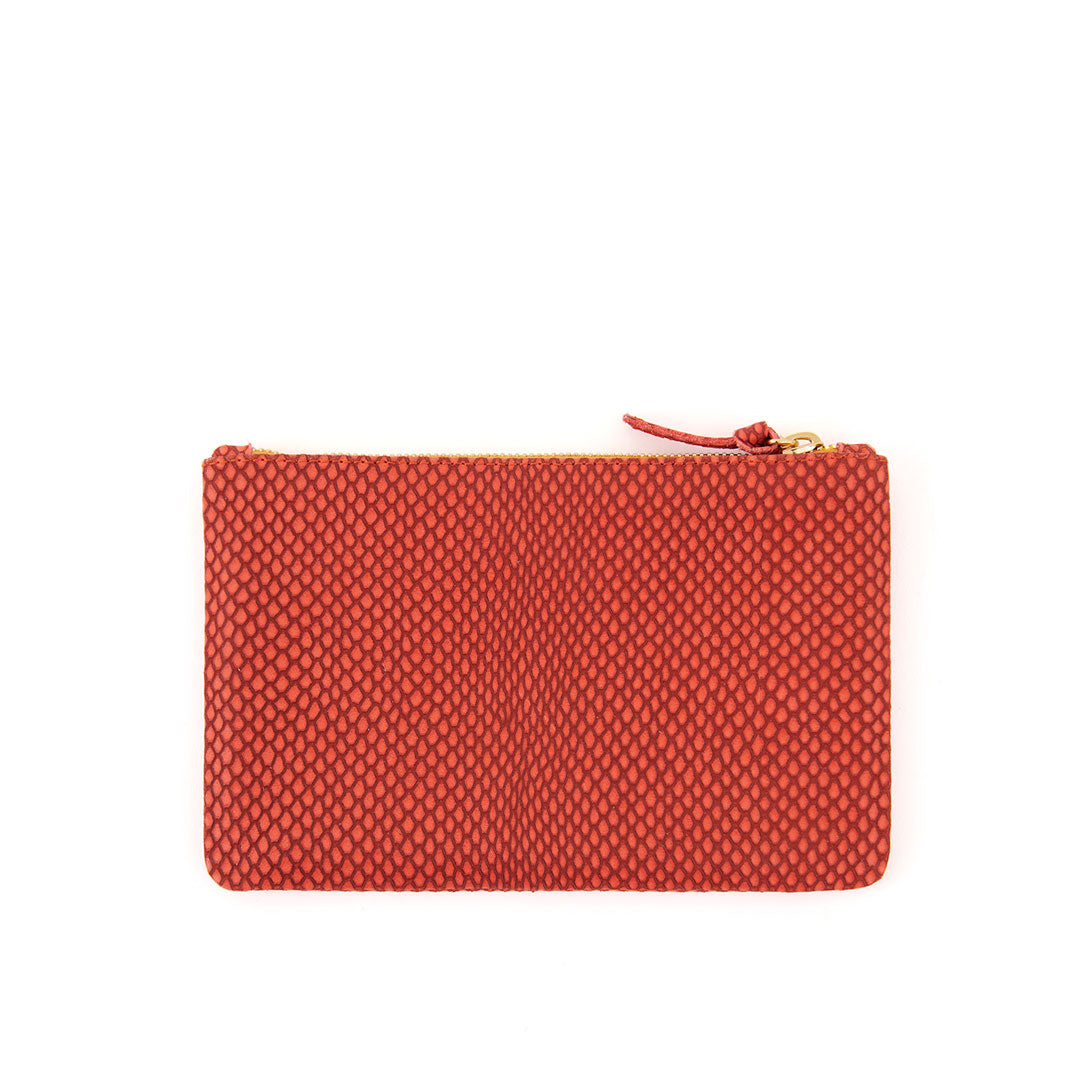 Poppy Reptile Wallet Clutch - Back