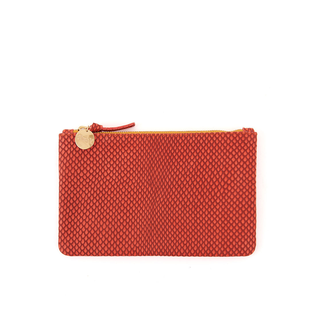 Poppy Reptile Wallet Clutch - Front