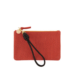 Poppy Reptile Wallet Clutch with Black Cord Wristlet