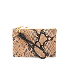 Cortado Spring Snake Wallet Clutch with Black Cord Wristlet
