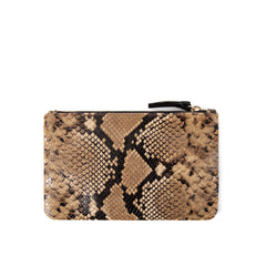 Tan Spring Snake Wallet Clutch - Back