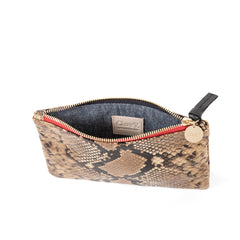 Tan Spring Snake Wallet Clutch - Interior