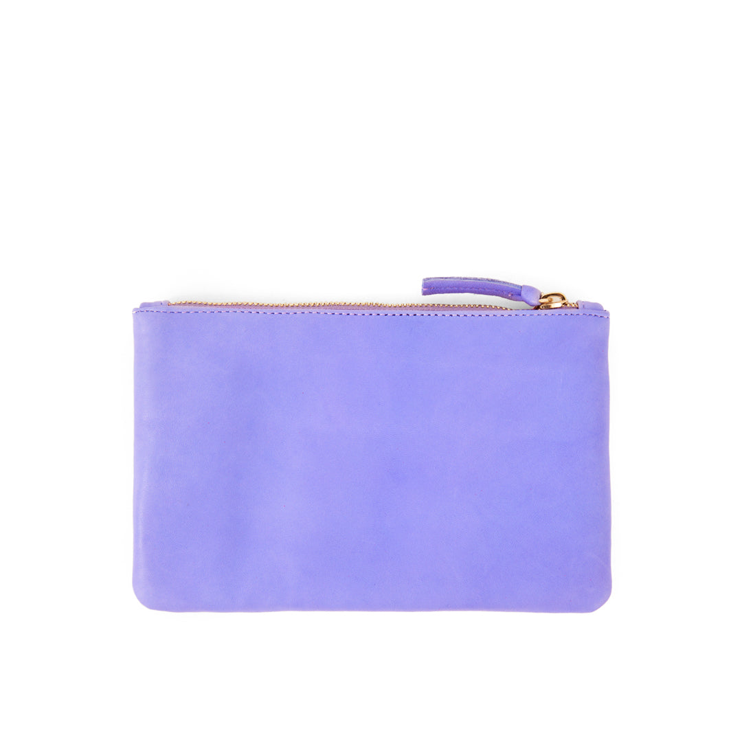 Violet Italian Nappa with Eyes Wallet Clutch - Back