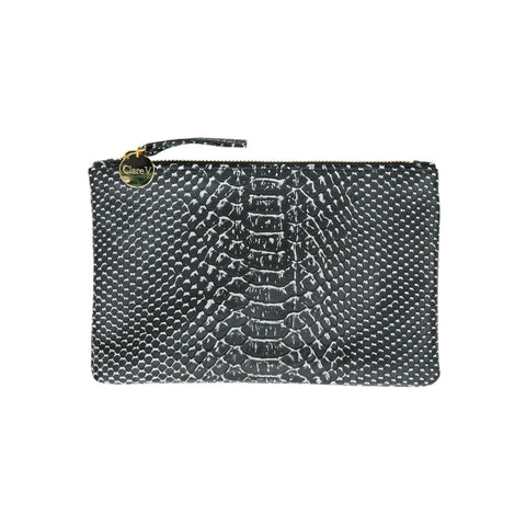 Black-White-Snake-Wallet-Clutch