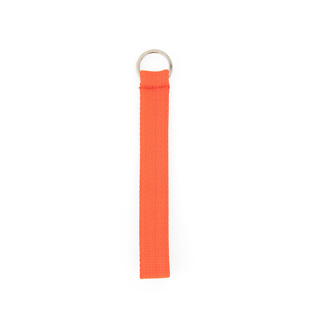 Neon Orange Nylon Webbing Keychain
