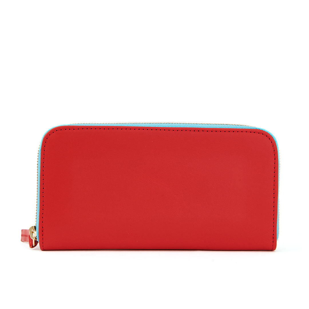 Cherry Red Zip Wallet - Front