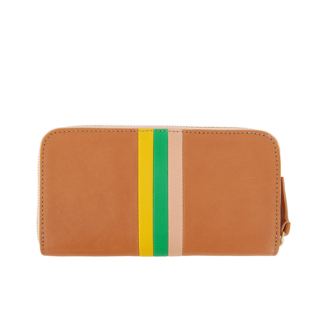 Natural Rustic with Desert Stripes Zip Wallet - Back